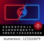 neon frames for versus battle ... | Shutterstock .eps vector #1172223079
