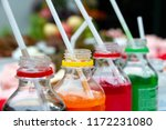 colorful of carbonated soft... | Shutterstock . vector #1172231080