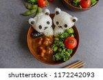 homemade japanese cuisine  ... | Shutterstock . vector #1172242093