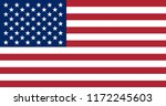 the flag of the united states... | Shutterstock .eps vector #1172245603