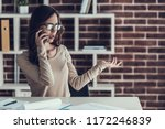 young business woman talking on ...   Shutterstock . vector #1172246839