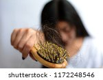 hair loss  hair fall everyday... | Shutterstock . vector #1172248546