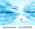 abstract perspective futuristic ... | Shutterstock .eps vector #1172250553