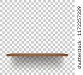 wooden shelf on transparent... | Shutterstock .eps vector #1172257339