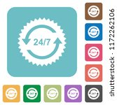 24 hours seven sticker with... | Shutterstock .eps vector #1172262106