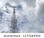 telecommunications tower and... | Shutterstock . vector #1172269303