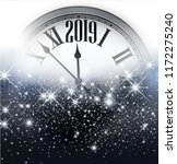 grey shiny 2019 new year... | Shutterstock .eps vector #1172275240