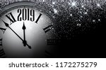 black and silver shiny 2019 new ... | Shutterstock .eps vector #1172275279