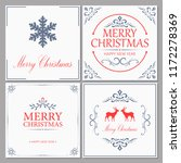 merry christmas and new year... | Shutterstock .eps vector #1172278369