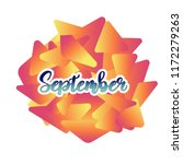 september the name of the month.... | Shutterstock .eps vector #1172279263