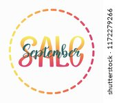 september the name of the month.... | Shutterstock .eps vector #1172279266