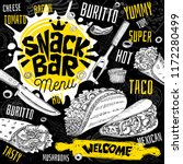 snack bar cafe restaurant menu. ... | Shutterstock .eps vector #1172280499
