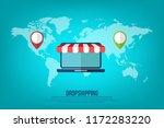 dropshipping. drop shipping... | Shutterstock .eps vector #1172283220