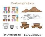 illustration of ceramic flower... | Shutterstock .eps vector #1172285023