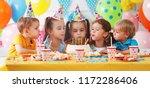 children's birthday. happy kids ... | Shutterstock . vector #1172286406