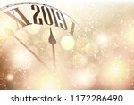 gold shining bokeh 2019 new... | Shutterstock .eps vector #1172286490