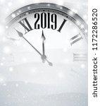 white blurred 2019 new year... | Shutterstock .eps vector #1172286520