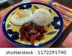 favorite breakfasts of... | Shutterstock . vector #1172291740