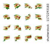 zimbabwe flag  vector... | Shutterstock .eps vector #1172293183