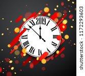 grey 2019 new year background... | Shutterstock .eps vector #1172293603