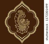 mehndi flower pattern with... | Shutterstock .eps vector #1172301499