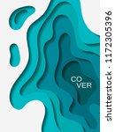 vector paper cut layout design... | Shutterstock .eps vector #1172305396