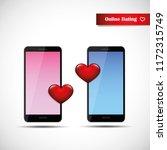 online dating app concept pink... | Shutterstock .eps vector #1172315749