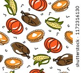 vector seamless thanksgiving... | Shutterstock .eps vector #1172316130