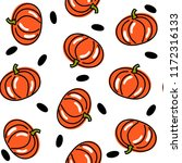 vector seamless pattern with... | Shutterstock .eps vector #1172316133