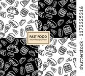 fast food. seamless background. ... | Shutterstock .eps vector #1172325316