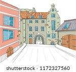 vector. riga. stone swedish... | Shutterstock .eps vector #1172327560