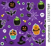 happy halloween cupcakes  with... | Shutterstock .eps vector #1172327569