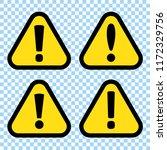 danger sign  warning sign ... | Shutterstock .eps vector #1172329756