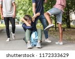 aggressive teenagers bullying... | Shutterstock . vector #1172333629