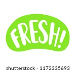 fresh word. bright text label... | Shutterstock .eps vector #1172335693