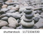 stack of pebble stone or zen... | Shutterstock . vector #1172336530