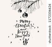 hand drawn ink christmas and... | Shutterstock .eps vector #1172336626