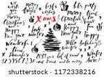 christmas and new year ink hand ... | Shutterstock .eps vector #1172338216