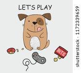 vector illustration dog with... | Shutterstock .eps vector #1172339659