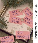 new year's resolutions in the... | Shutterstock . vector #117234256