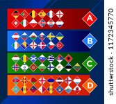 european nations football.... | Shutterstock .eps vector #1172345770