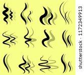 set of hand drawn smoke steam... | Shutterstock .eps vector #1172349913