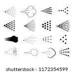 different spray signs set.... | Shutterstock .eps vector #1172354599