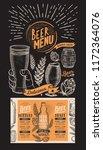 beer menu for restaurant design ... | Shutterstock .eps vector #1172364076