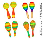 maracas. traditional musical... | Shutterstock .eps vector #1172364346