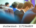 meeting of govern in the... | Shutterstock . vector #1172366809