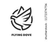 flying dove  logo  symbol. | Shutterstock .eps vector #1172374756