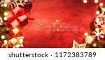 christmas gift. christmas and...   Shutterstock . vector #1172383789