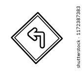 turn left icon vector... | Shutterstock .eps vector #1172387383