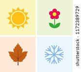 four seasons summer spring... | Shutterstock .eps vector #1172389729